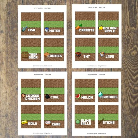 image relating to Minecraft Printable Food Labels named Minecraft