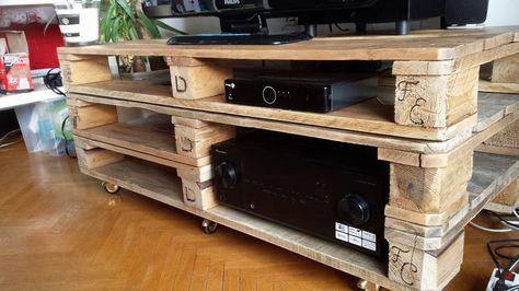 meuble tele palette pinterest - Recherche Google meuble tele