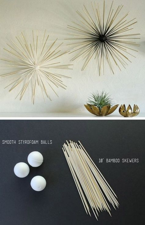 Bamboo Skewer Wall Art: