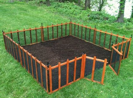 deer fencing and picket fencing create a quick garden area anywhere in your backyard - Vegetable Garden Fence Ideas