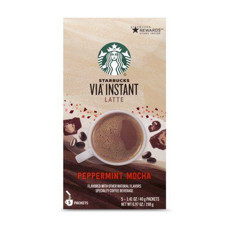 Starbucks Via Instant Peppermint Mocha Latte 5 Packets