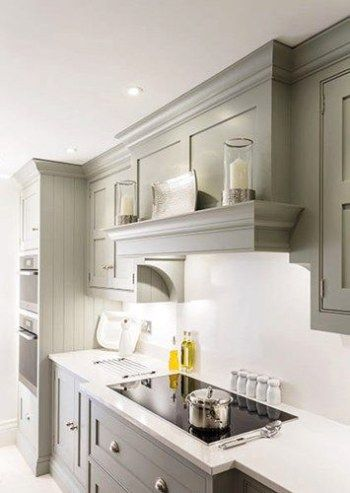 Using A Fabric Panel With Hook And Loop Fastening Tape To Create Skirting Around Your Under Cou Kitchen Layout Kitchen Cabinets To Ceiling Kitchen Inspirations