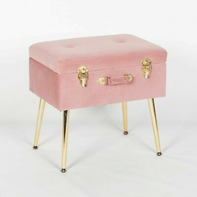 Prime Pink Velvet Suitcase Dressing Table Stool Bedroom Storage Squirreltailoven Fun Painted Chair Ideas Images Squirreltailovenorg