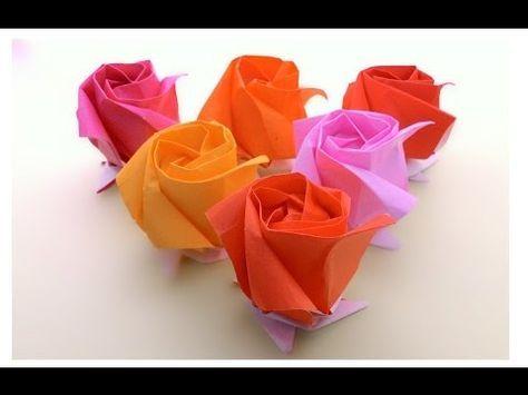 DIY Origami Kawasaki Rose | Origami rose, Origami flowers, Paper ... | 355x474