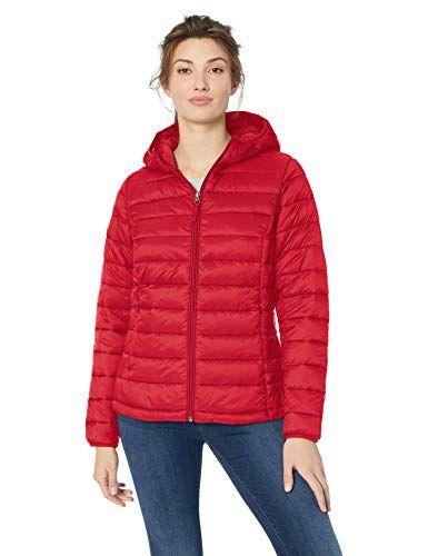Essentials Womens Lightweight Water-Resistant Packable Puffer Jacket