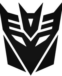 Decepticon Transformer Reusable Flexible Plastic Stencil