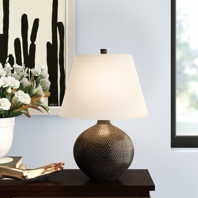 Robert Abbey Round Dal Table Lamp Base Finish Deep Patina Bronze