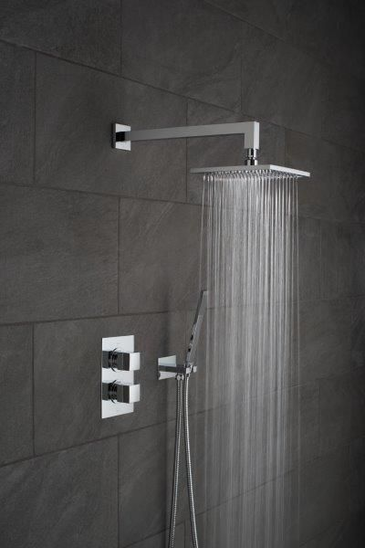 Showering Package Mix Square Concealed 2 Outlet Thermostatic