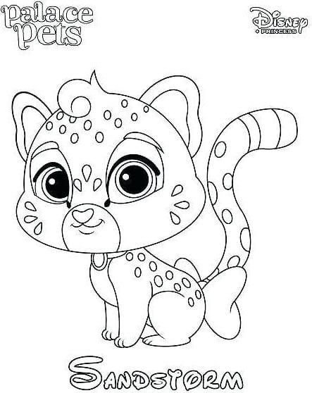 Palace Pets Coloring Pages Animal Coloring Books Disney