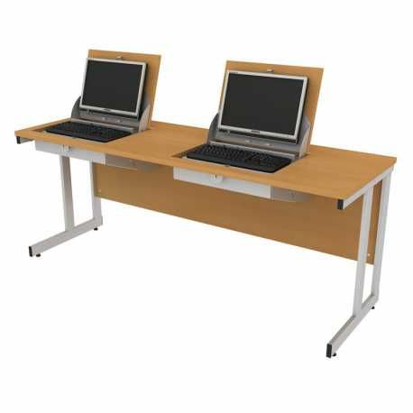 The Compact Smart Top Computer Desk Design Provides A Duel Use