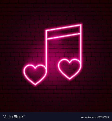 Love music neon sign vector image on VectorStock Pink Neon Wallpaper, Music Wallpaper, Hipster Wallpaper, Emoji Wallpaper, Pink Neon Sign, Pink Neon Lights, Neon Sign Art, Neon Quotes, Neon Words