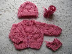 Marianna S Lazy Daisy Days Little Bibi Preemie Baby Jacket Hat