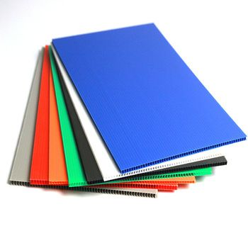 Polypropylene China Supplier Colorfast Custom Thickness Hollow Rigid Plastic Corrugated Plastic Sheets Plastic Sheets Corrugated Plastic