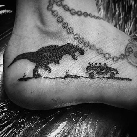 50 Jurassic Park Tattoo Designs For Men - Dinosaur Ink Ideas