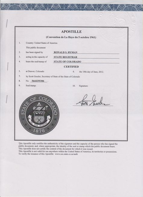 Colorado apostille US apostilles Pinterest - blank divorce decree