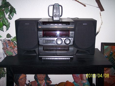 Sony stereo/ 3-cd / cassette player with speakers and remote in OnsalebyRichard's Garage Sale Mesa, AZ for $20.00. Sony stereo/ cd / cassette player with speakers and remote. Works perfectly.
