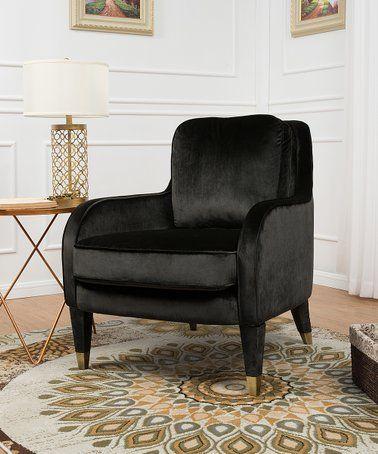 Marvelous Love This Black Ayala Velvet Accent Chair On Zulily Creativecarmelina Interior Chair Design Creativecarmelinacom
