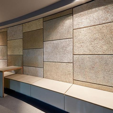 Wood Wool is a high-performance, eco-friendly, cost-effective acoustical-panel. Envirocoustic™ from Acoustical Surfacesabsorbs sound and thermally insulates.