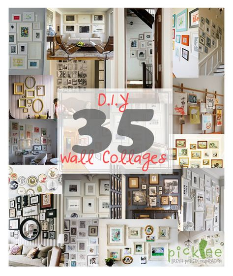 Lovely Chaos Diy Wall Collage Decor Diy Wall