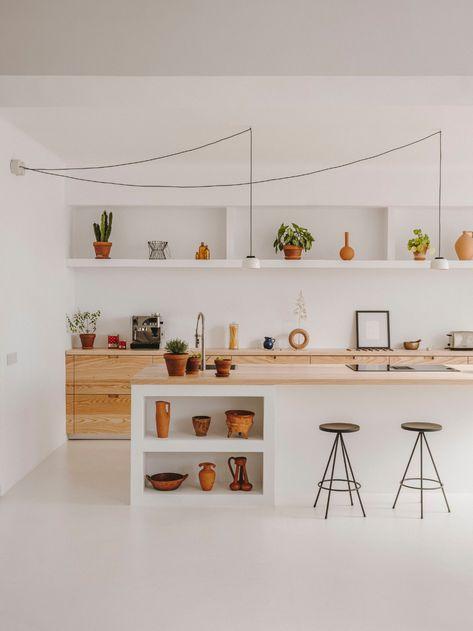 Barcelona Home of Interior Designer Isern Serra and Ceramist Valeria Vasi