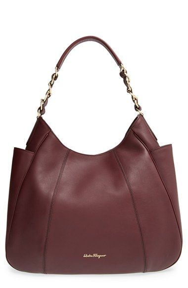 8e4938457f9e Salvatore Ferragamo  Elle  Leather Hobo available at  Nordstrom ...