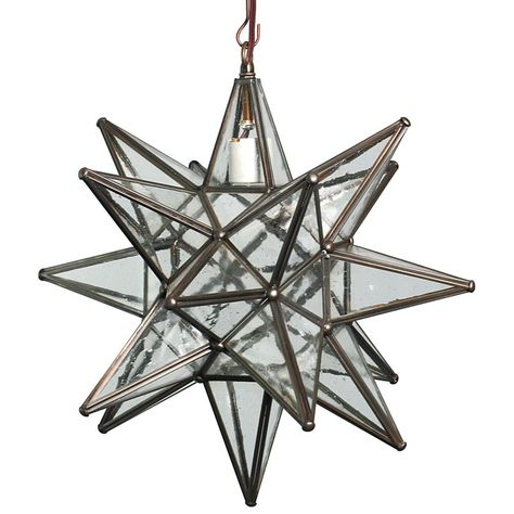 Mexican Seeded Bubble Glass Hanging Star Fixture | Lighting ...