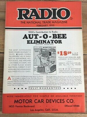 Details about Vintage Antique Radio Trade Magazine - February 1932