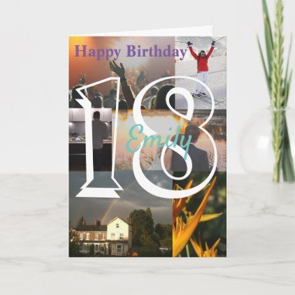 Personalised Photo Upload 18th Birthday Card Zazzle Com 40th Birthday Cards 60th Birthday Cards 80th Birthday Cards