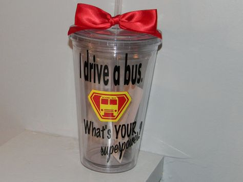 Personalized Bus Driver Gift tumbler 16oz by dreamingdandelions, $10.00