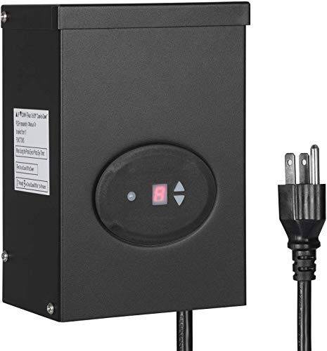 New Dewenwils 200w Outdoor Low Voltage Transformer With Timer And Photocell Sensor 120v Ac T In 2020 Led Landscape Lighting Low Voltage Transformer Landscape Lighting