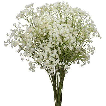 Duovlo 10pcs Babies Breath Flowers 23 6 Artificial Gypsophila Bouquets Real Touch Flowers For Weddin Diy Wedding Flowers Gypsophila Bouquet Real Touch Flowers