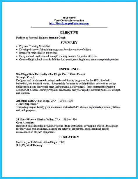 cool Writing Your Athletic Training Resume Carefully, Check more at