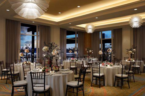 Dockside Room wedding reception venue in San Diego at Paradise Point Resort & Spa. #WeddingVenues