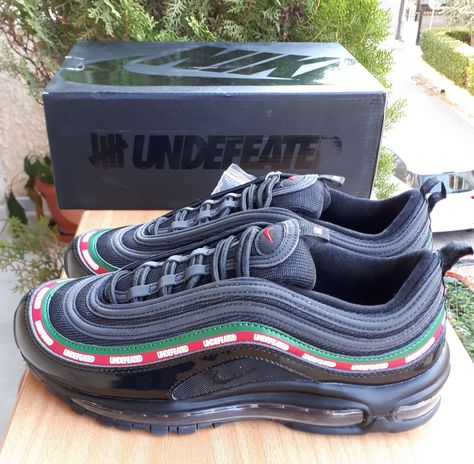 Nike Air Max 97 OG UNDEFEATED x Black UNDFTD SIZE 10 UK EU