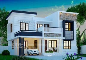 1748 Square Feet Modern 4 Bedroom House Plan Duplex House Design Exterior House Remodel Kerala House Design