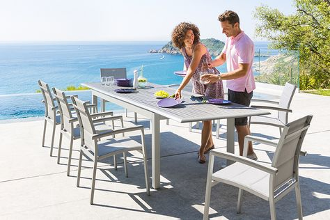 Table extensible Azua - HESPERIDE.fr | Salon de Jardin