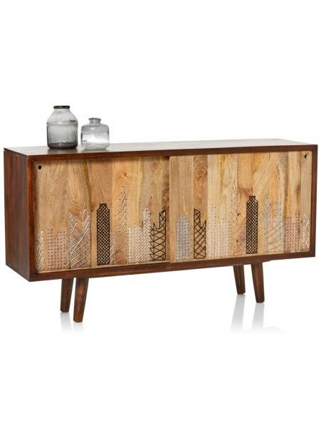 Vintage Look Kommode Mangoholz Side Board Sideboard Modern