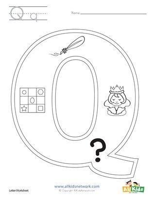 Letter Q Coloring Page Alphabet Letter Activities Lettering Coloring Pages