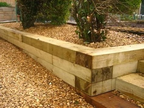 60 Best Landscape Timber Ideas For Your Dream Lawn Landscape Timbers Garden Retaining Wall Wooden Retaining Wall