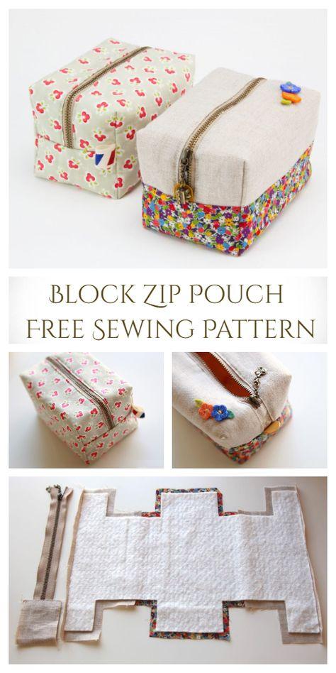 Diy Bags Patterns, Purse Patterns Free, Bag Pattern Free, Pouch Pattern, Sew Pattern, Handbag Patterns, Bag Sewing Patterns, Diy Sewing Projects, Sewing Tutorials