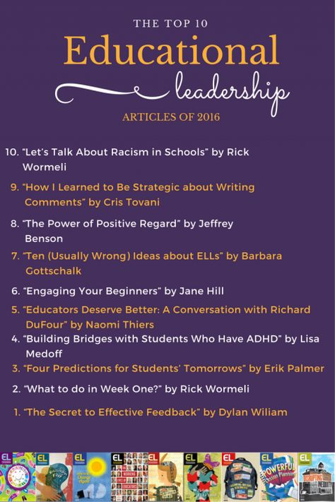 Top 10 Educational Leadership Articles of 2016 - ASCD Inservice