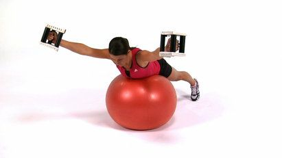 Stabilize your shoulders and strengthen your back with Stability Ball Dumbbell Y's.