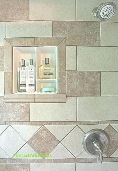 Tile Shower Soap Dish Inserts Bathroom Shampoo Shelf Soap Dish For