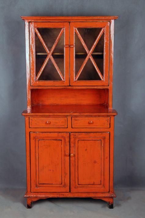 Orange antique finish