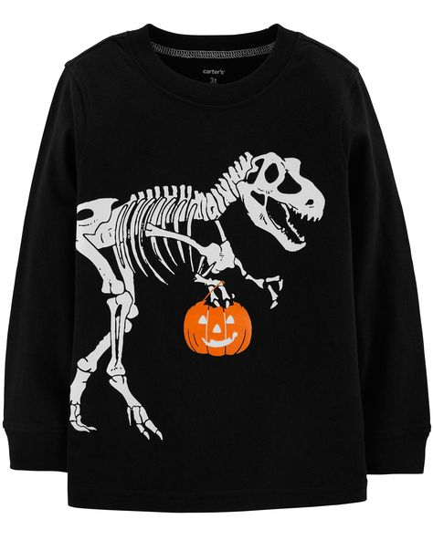 Toddler Boy Glow-In-The-Dark Dinosaur Halloween Tee   Carters.com