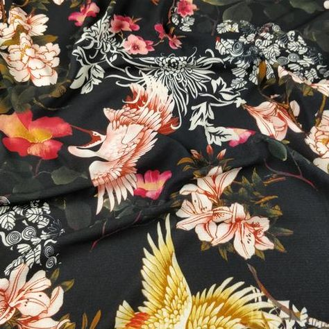 Stylex Floral Printed Jersey Dress Fabric Sold By Meter