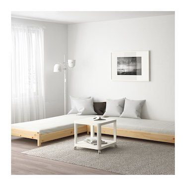 Utaker Pine Malfors Medium Firm Stackable Bed With 2 Mattresses 80x200 Cm Ikea Ikea Bed Spare Bed Ikea