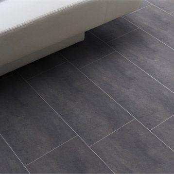 Sol vinyle Aerotex béton Melbourne noir, 4 m Appartement - plafond salle de bain pvc