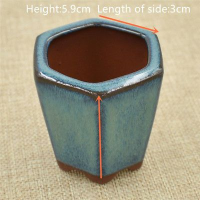Ceramics Chinese Bonsai Flower Pot Round Dark Green Glazed Plant Flowerpot Bonsai Flower Flower Pots Bonsai