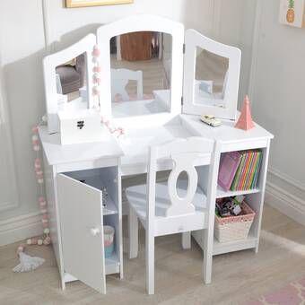 Princess Vanity Set With Mirror Bedroom Vanity Set Kids Vanity Vanity Set With Mirror